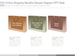 Online Shopping Benefits Sample Diagram Ppt Slide
