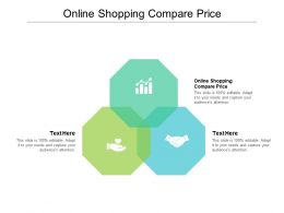 Online Shopping Compare Price Ppt Powerpoint Presentation Portfolio Example Cpb