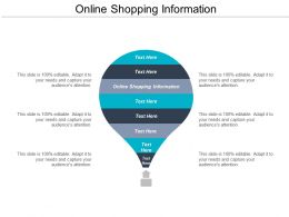 Online Shopping Information Ppt Powerpoint Presentation Show Influencers Cpb