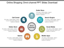 Online Shopping Omni Channel Ppt Slides Download