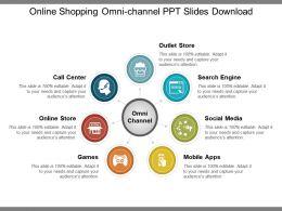Online Shopping Omni Channel Ppt Slides Download