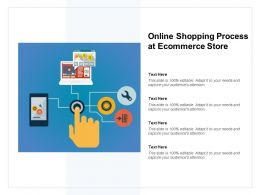 Online Shopping Process At Ecommerce Store