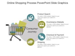 Online Shopping Process Powerpoint Slide Graphics