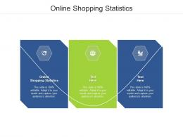 Online Shopping Statistics Ppt Powerpoint Presentation Gallery Outline Cpb