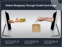 Online Shopping Through Credit Card Image