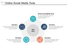 Online Social Media Tools Ppt Powerpoint Presentation Gallery Show Cpb