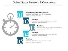 Online Social Network E Commerce Ppt Powerpoint Presentation Inspiration Layout Ideas Cpb
