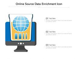 Online Source Data Enrichment Icon