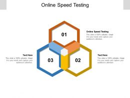 Online Speed Testing Ppt Powerpoint Presentation Infographic Template Clipart Images Cpb