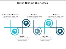 Online Start Up Businesses Ppt Powerpoint Presentation Summary Influencers Cpb