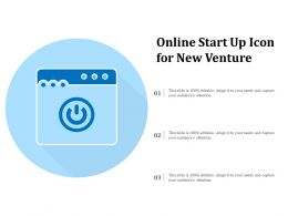 Online Start Up Icon For New Venture