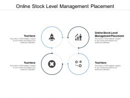 Online Stock Level Management Placement Ppt Powerpoint Presentation Ideas Good Cpb