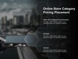 Online Store Category Pricing Placement Ppt Powerpoint Presentation Slides Designs Download Cpb
