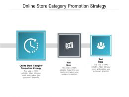 Online Store Category Promotion Strategy Ppt Powerpoint Presentation Summary Icons Cpb