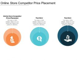 Online Store Competitor Price Placement Ppt Powerpoint Presentation Infographics Show Cpb