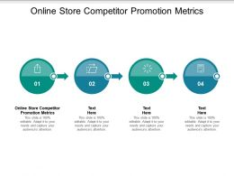 Online Store Competitor Promotion Metrics Ppt Powerpoint Presentation Outline Ideas Cpb