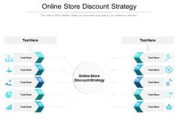 Online Store Discount Strategy Ppt Powerpoint Presentation Professional Slides Cpb