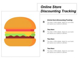 Online Store Discounting Tracking Ppt Powerpoint Presentation Infographic Template Slideshow Cpb
