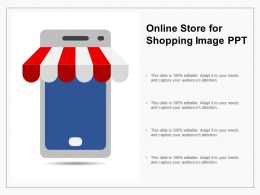 Online Store For Shopping Image Ppt