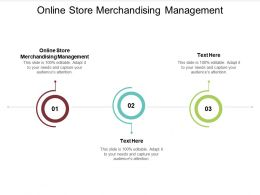 Online Store Merchandising Management Ppt Powerpoint Presentation Gallery Master Slide Cpb