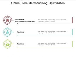 Online Store Merchandising Optimization Ppt Powerpoint Presentation Outline Model Cpb