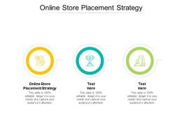 Online Store Placement Strategy Ppt Powerpoint Presentation Slides Designs Cpb