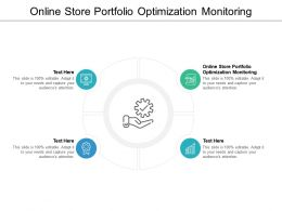 Online Store Portfolio Optimization Monitoring Ppt Powerpoint Presentation Show Tips Cpb