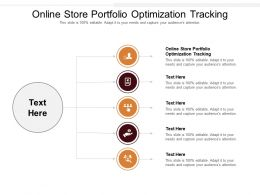 Online Store Portfolio Optimization Tracking Ppt Powerpoint Presentation File Icon Cpb