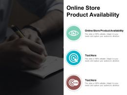 Online Store Product Availability Ppt Powerpoint Presentation Pictures Grid Cpb
