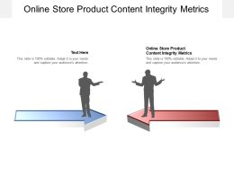 Online Store Product Content Integrity Metrics Ppt Powerpoint Presentation Cpb