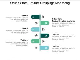 Online Store Product Groupings Monitoring Ppt Powerpoint Presentation Gallery Inspiration Cpb