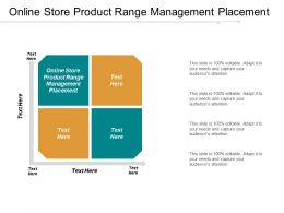 Online Store Product Range Management Placement Ppt Powerpoint Presentation Gallery Deck Cpb