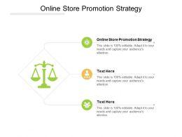 Online Store Promotion Strategy Ppt Powerpoint Presentation Portfolio Graphics Cpb