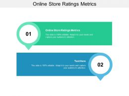 Online Store Ratings Metrics Ppt Powerpoint Presentation Model Gridlines Cpb