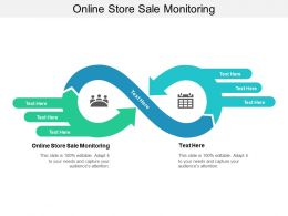 Online Store Sale Monitoring Ppt Powerpoint Presentation Ideas Background Images Cpb