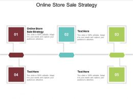 Online Store Sale Strategy Ppt Powerpoint Presentation Slides Format Cpb