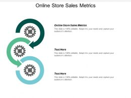 Online Store Sales Metrics Ppt Powerpoint Presentation Ideas Information Cpb