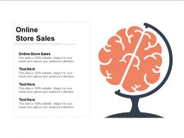 Online Store Sales Ppt Powerpoint Presentation Icon Ideas Cpb
