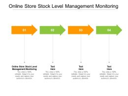 Online Store Stock Level Management Monitoring Ppt Powerpoint Slide Cpb