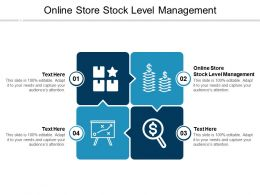 Online Store Stock Level Management Ppt Powerpoint Presentation Pictures Layout Ideas Cpb