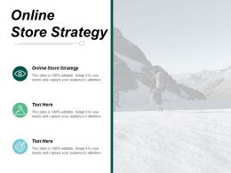 Online Store Strategy Ppt Powerpoint Presentation Infographic Template Structure Cpb