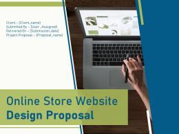 Online Store Website Design Proposal Powerpoint Presentation Slides