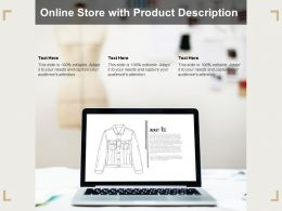 Online Store With Product Description