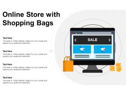 Online Store With Shopping Bags