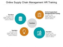 Online Supply Chain Management HR Training Ppt Powerpoint Presentation Ideas Portrait Cpb