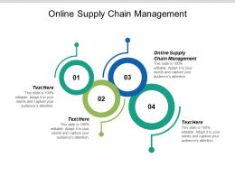Online Supply Chain Management Ppt Powerpoint Presentation Icon Graphic Tips Cpb