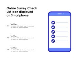 Online Survey Check List Icon Displayed On Smartphone