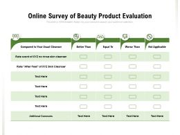 Online Survey Of Beauty Product Evaluation