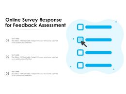 Online Survey Response For Feedback Assessment