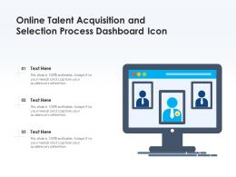 Online Talent Acquisition And Selection Process Dashboard Icon